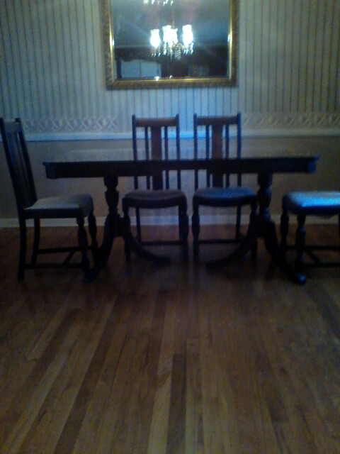 Antique Mahogany Double Pedestal Dining Table