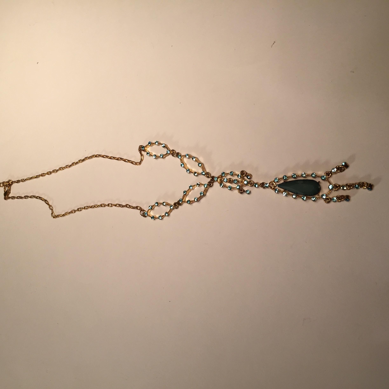 Aquamarine Delicate Drop Necklace