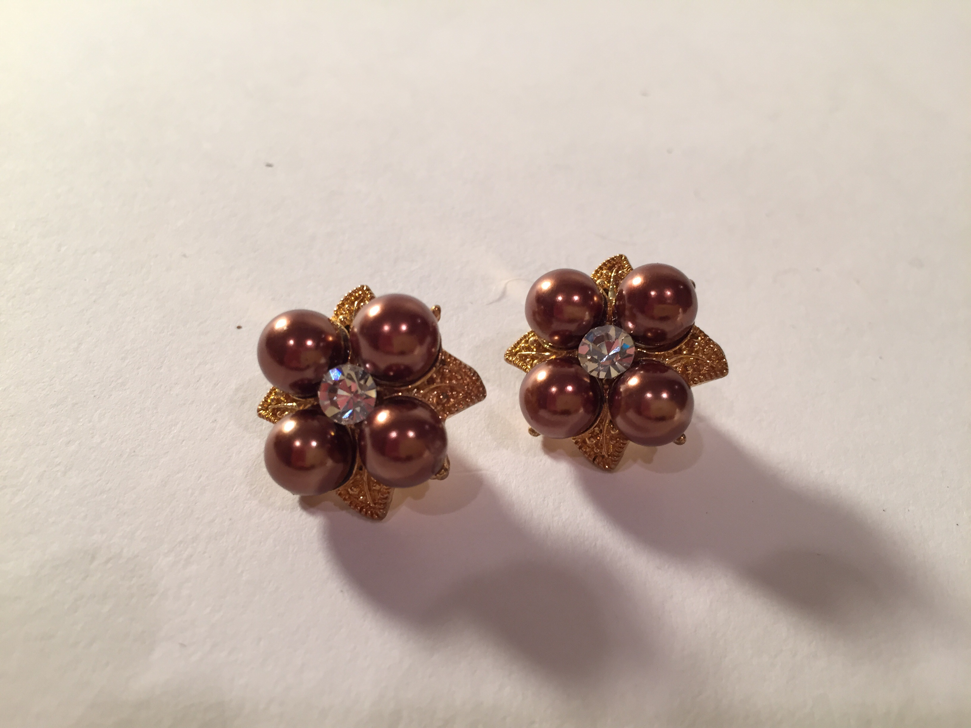 Floral Bauble Clip Ons