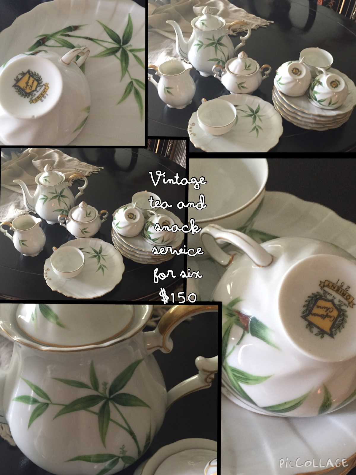 Vintage Tea and Snack Service for 6