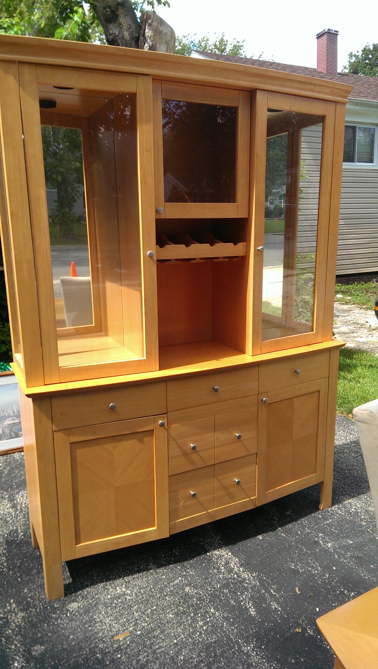 solid oak 9 piece dining room set in adixon s garage sale