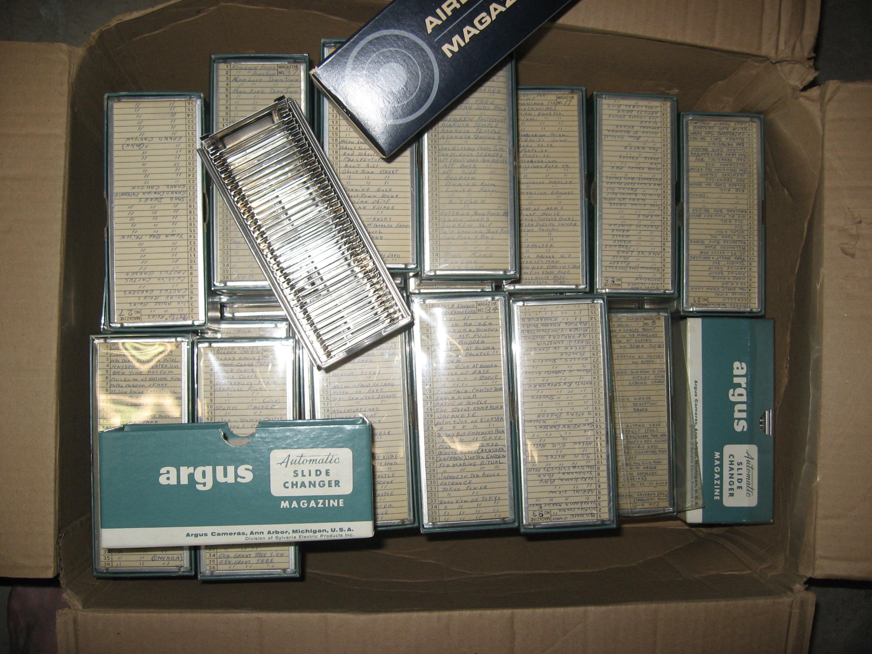 Argus slide trays - holds 37 slides- firs Argus slide projector