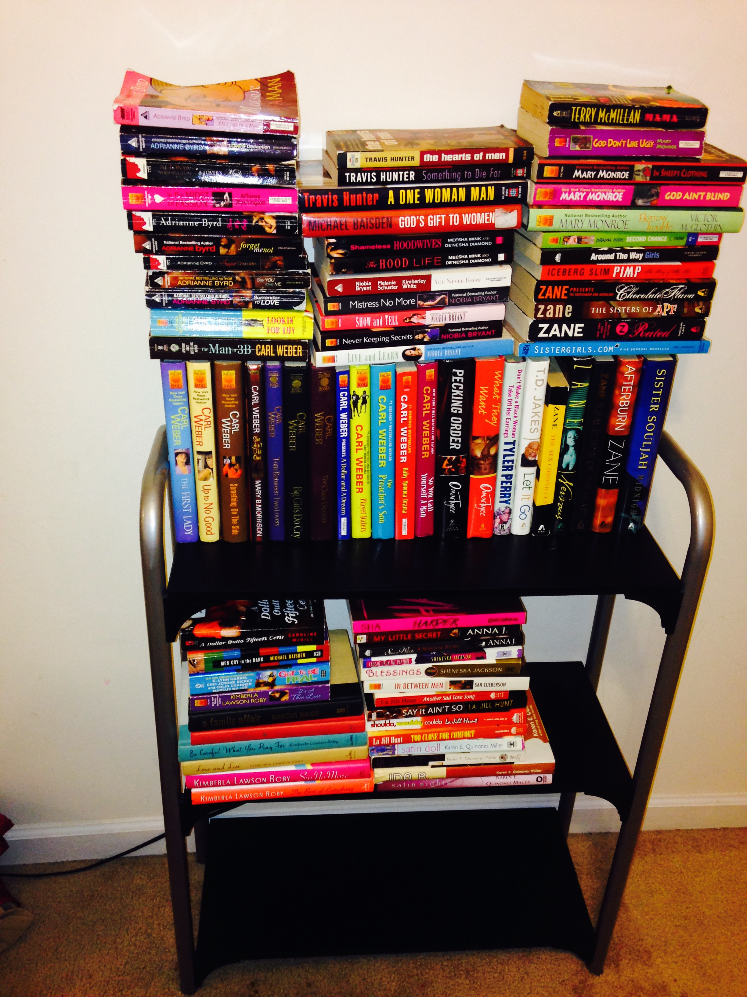 Urban Fiction Book Collection with Included Book Stand