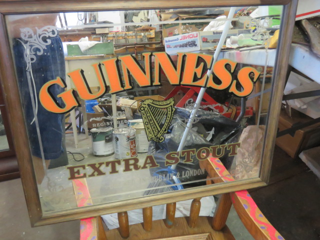 mirror guinness extra stout sign  nice frame