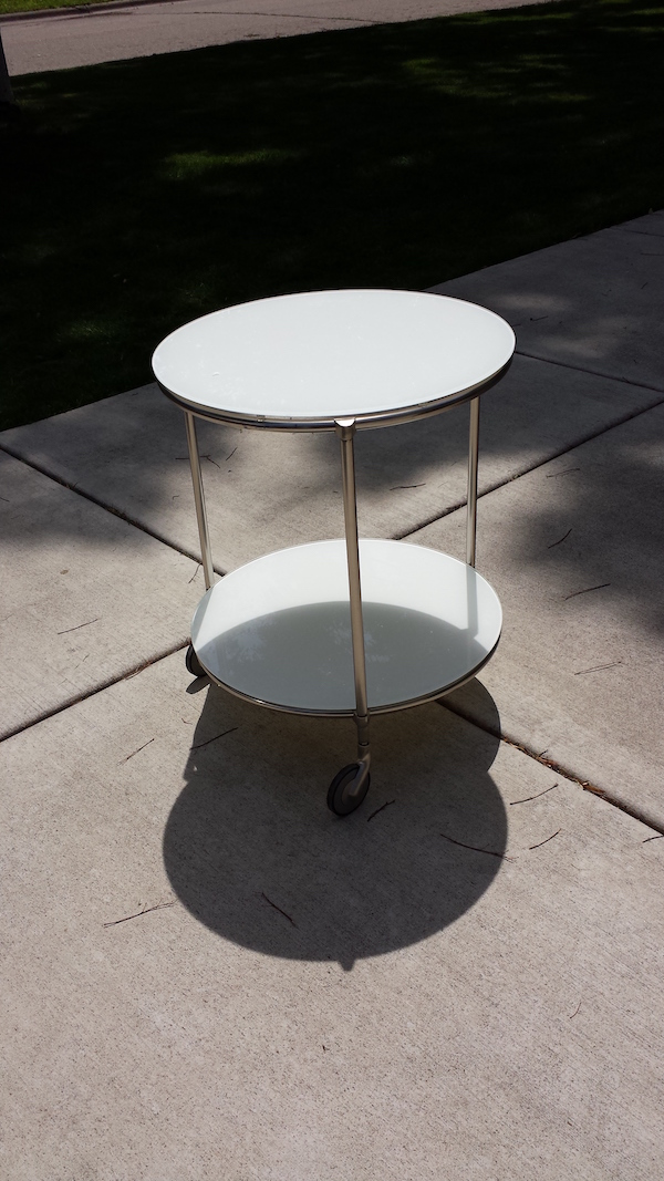 Ikea Glass & metal table