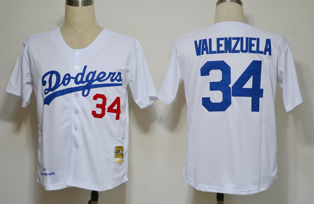 Throuback MBL Dodger LA # 34 VALENZUALA White Jersey Size L or XL