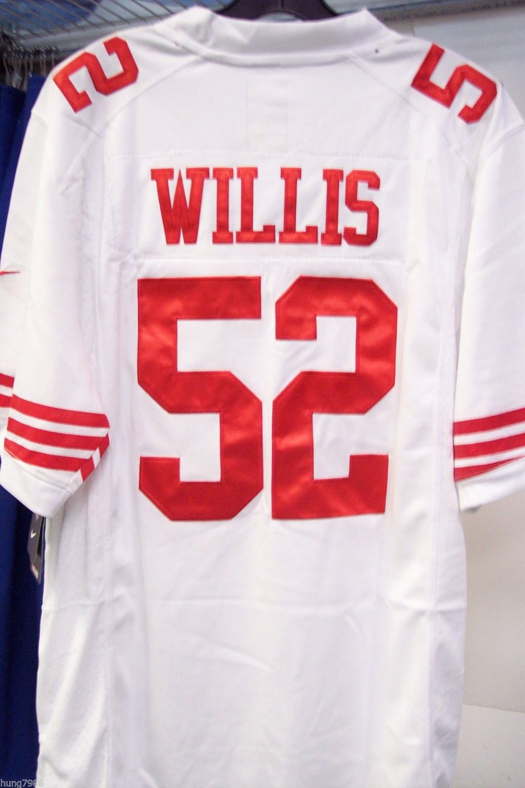Throuback NFL San Francisco 49er#52 WILLIS White Jersey Sizes L,X