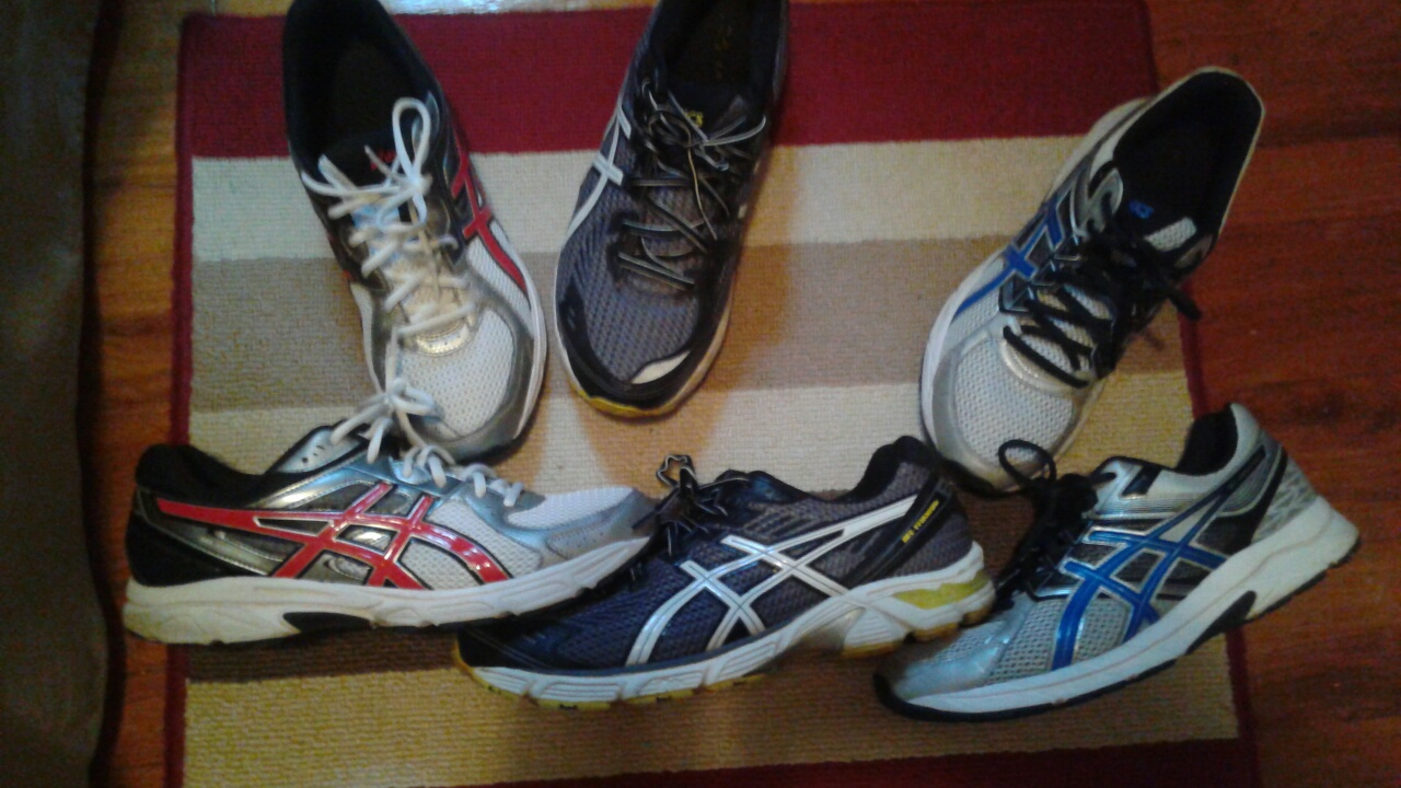 3 pairs Asics mens shoes size 12