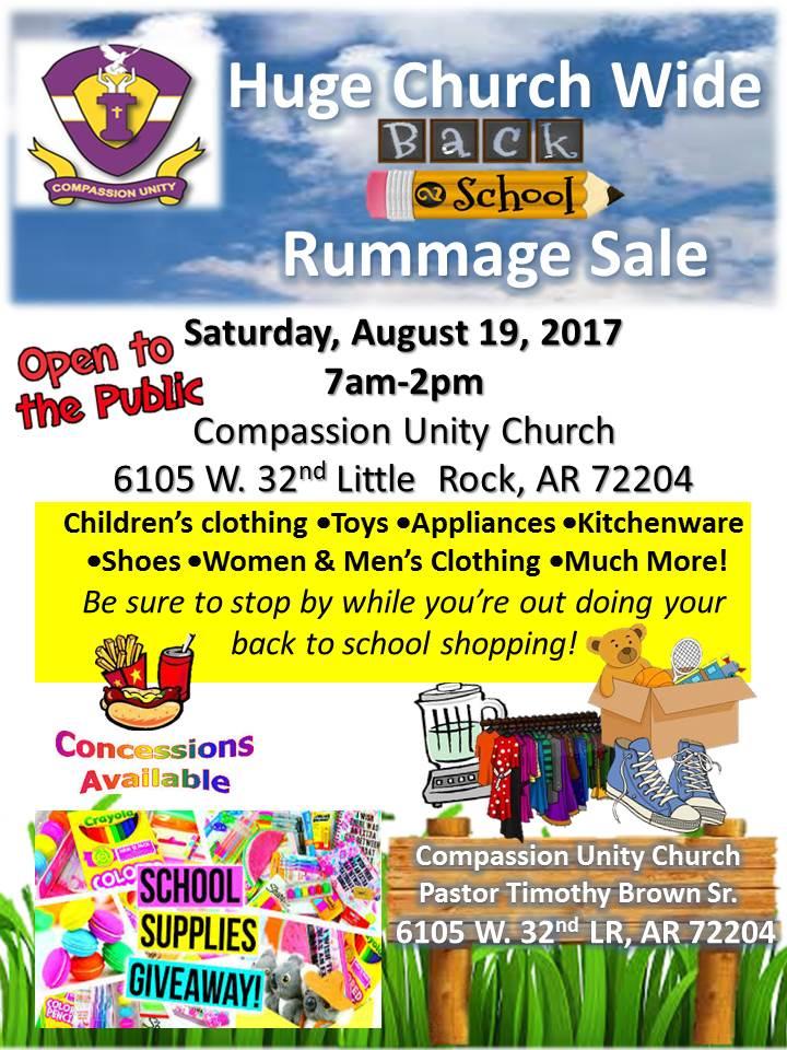 Huge Church Wide Back to School Rummage Sale