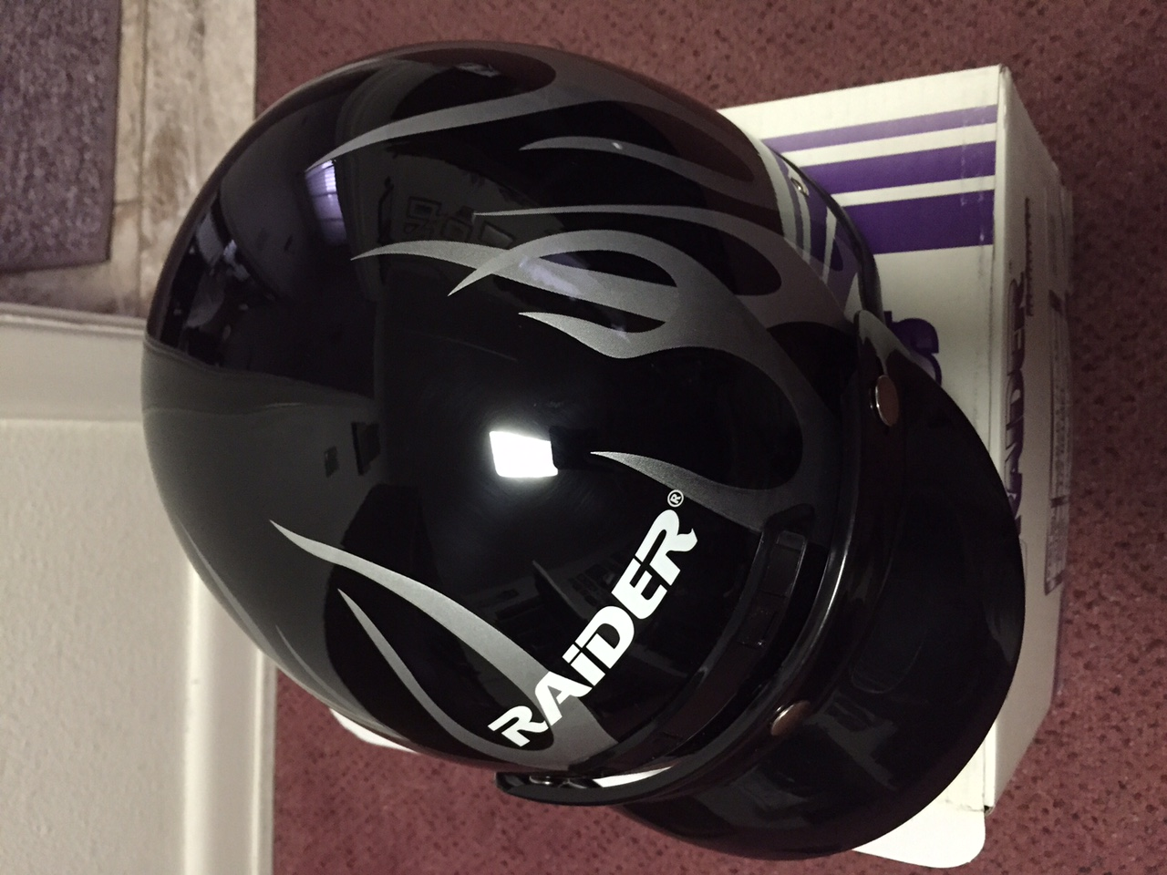 Raider Motorcycle Helmets: Full in Size M & Half in Size XL