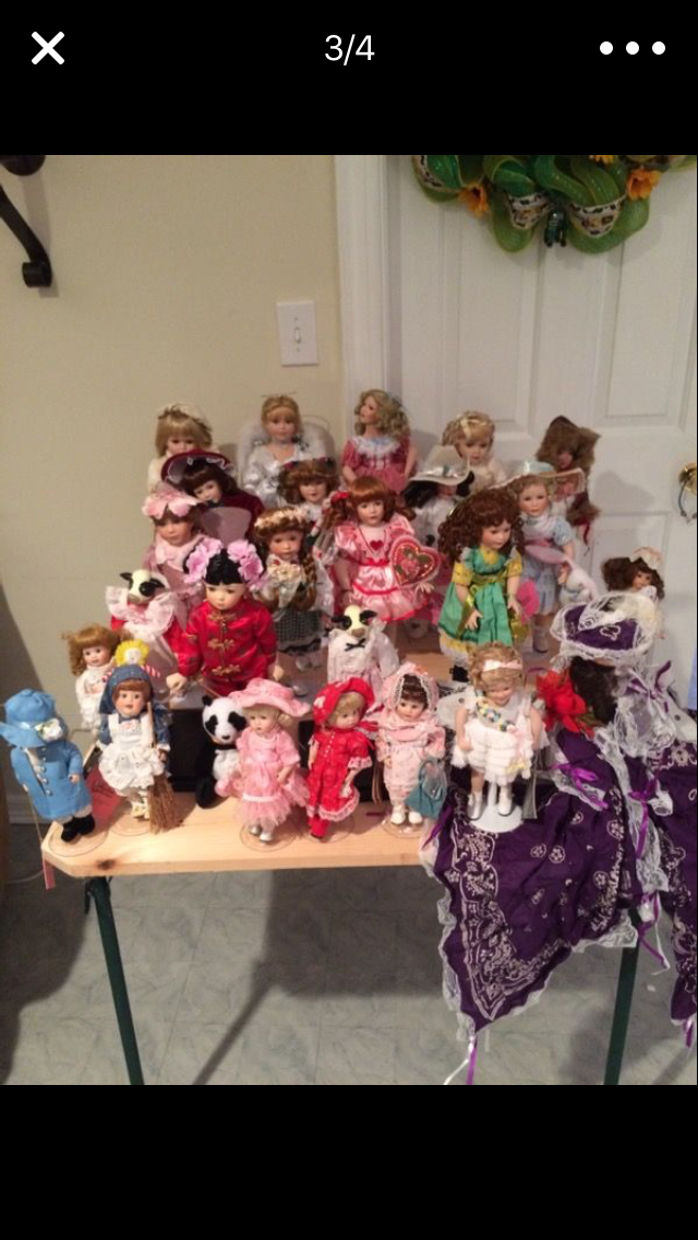 Group of Porcelain Dolls (some Danbury Mint)