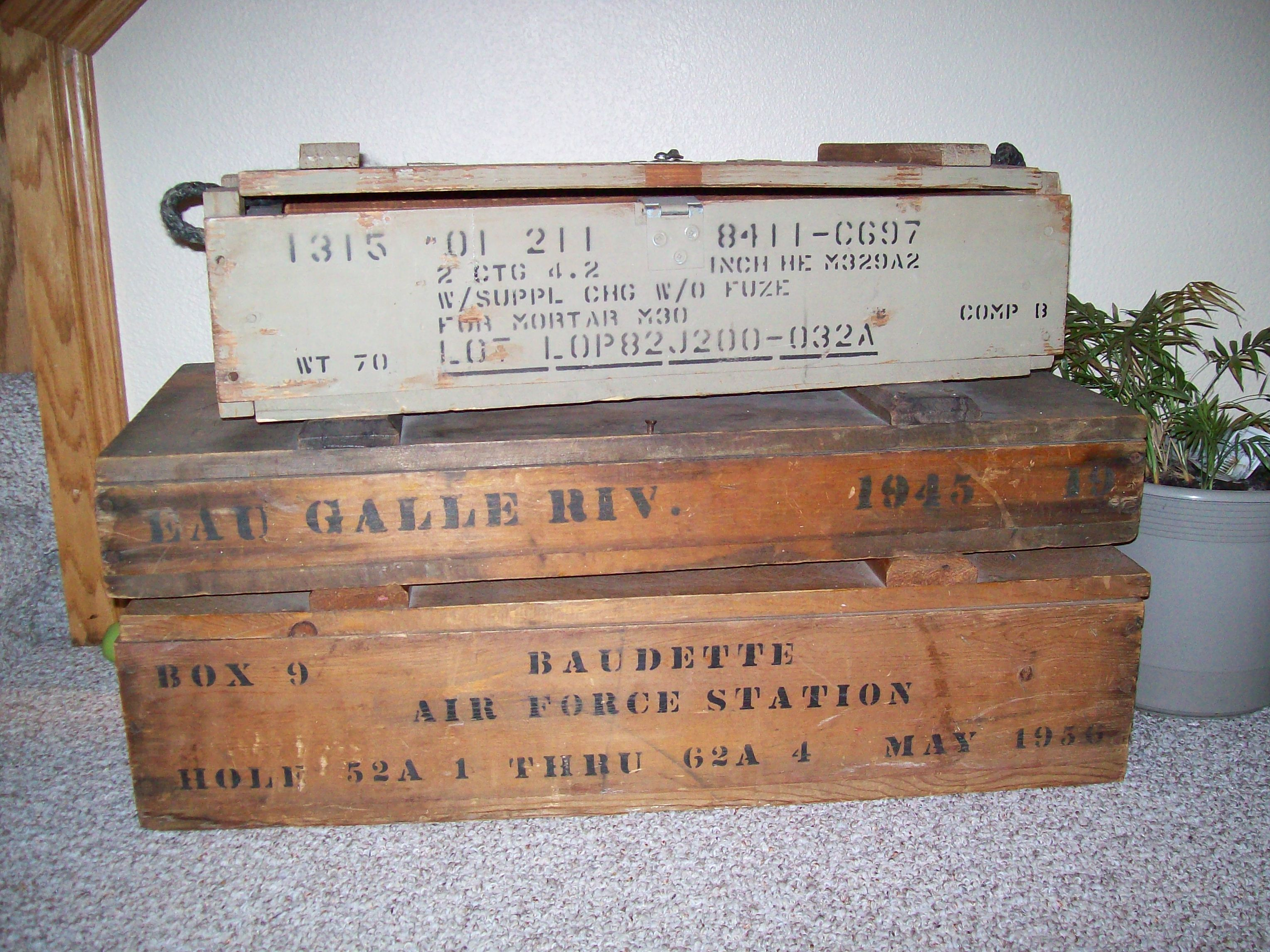 Ammunition Boxes WWII Collectible or Junk Chic
