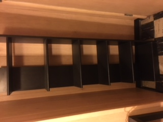 Shelving unit black 2 sections