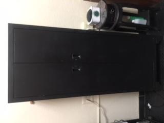 Metal storage cabinet in black