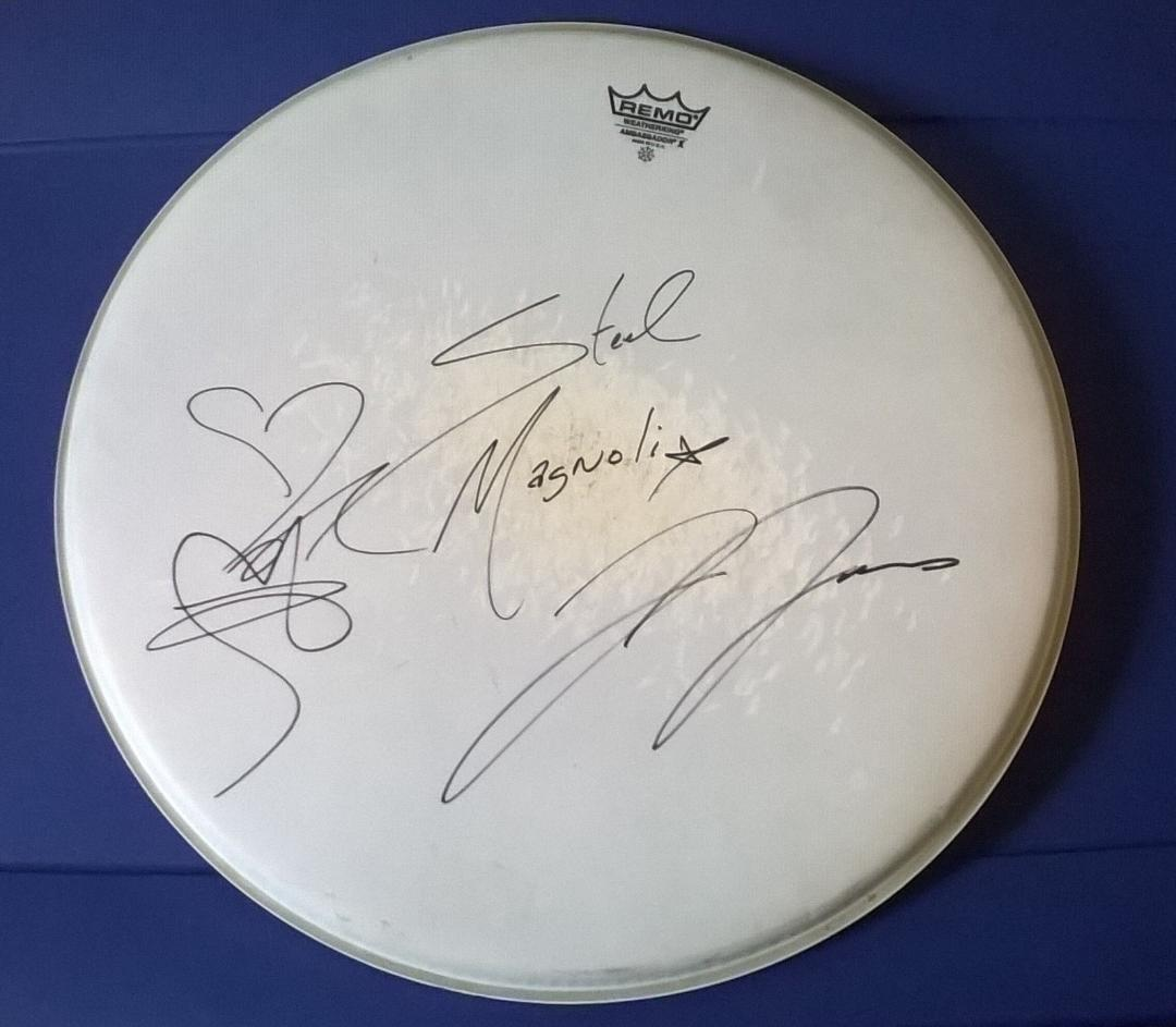Autographed Drum Head by Steel Magnolia