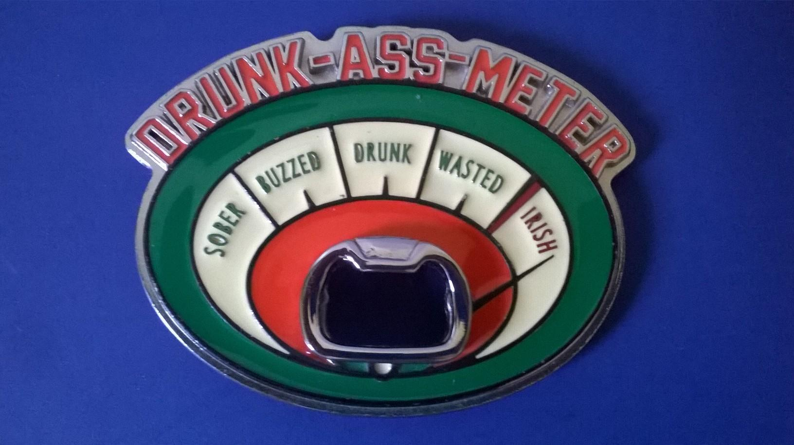 Belt Buckle, Drunk Meter