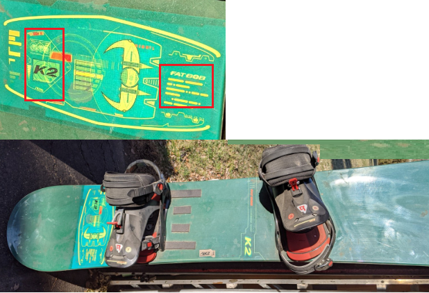 K2 Fat Bob Snowboard with bindings
