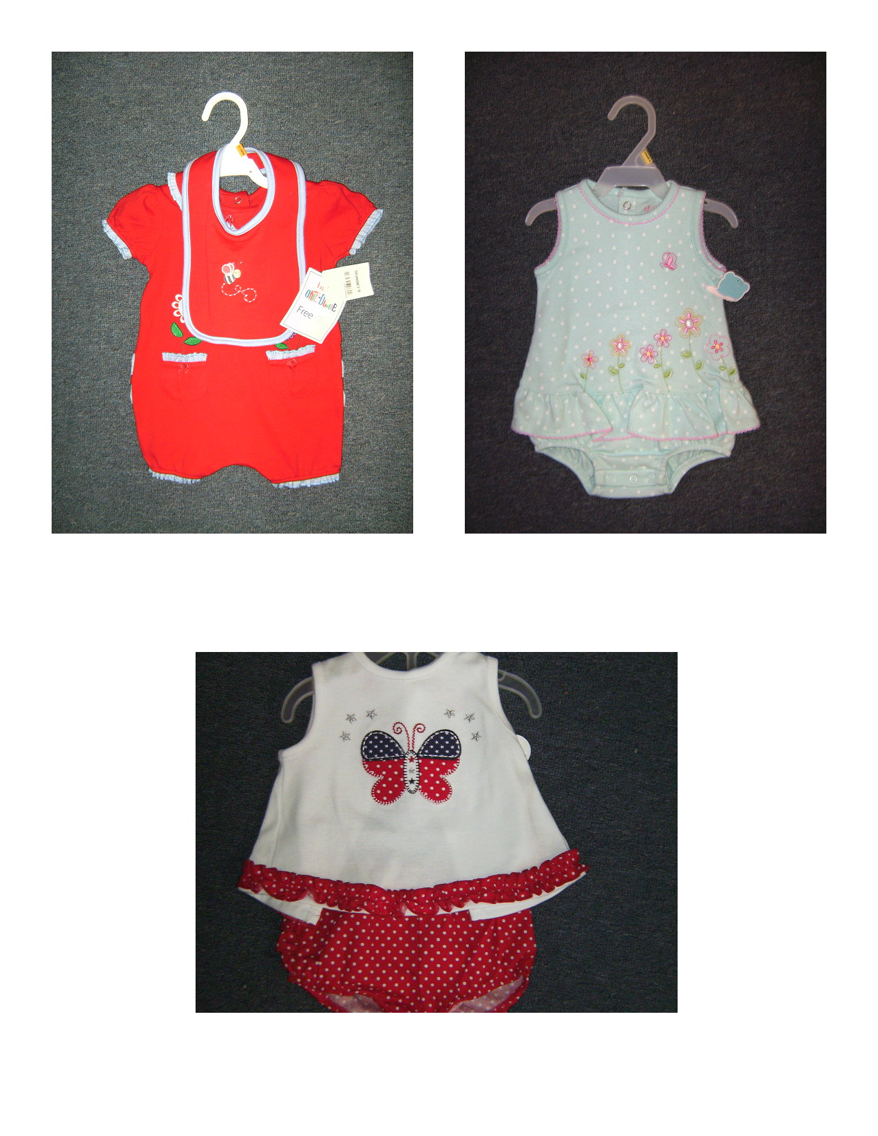 new baby girl lot clothes. red.