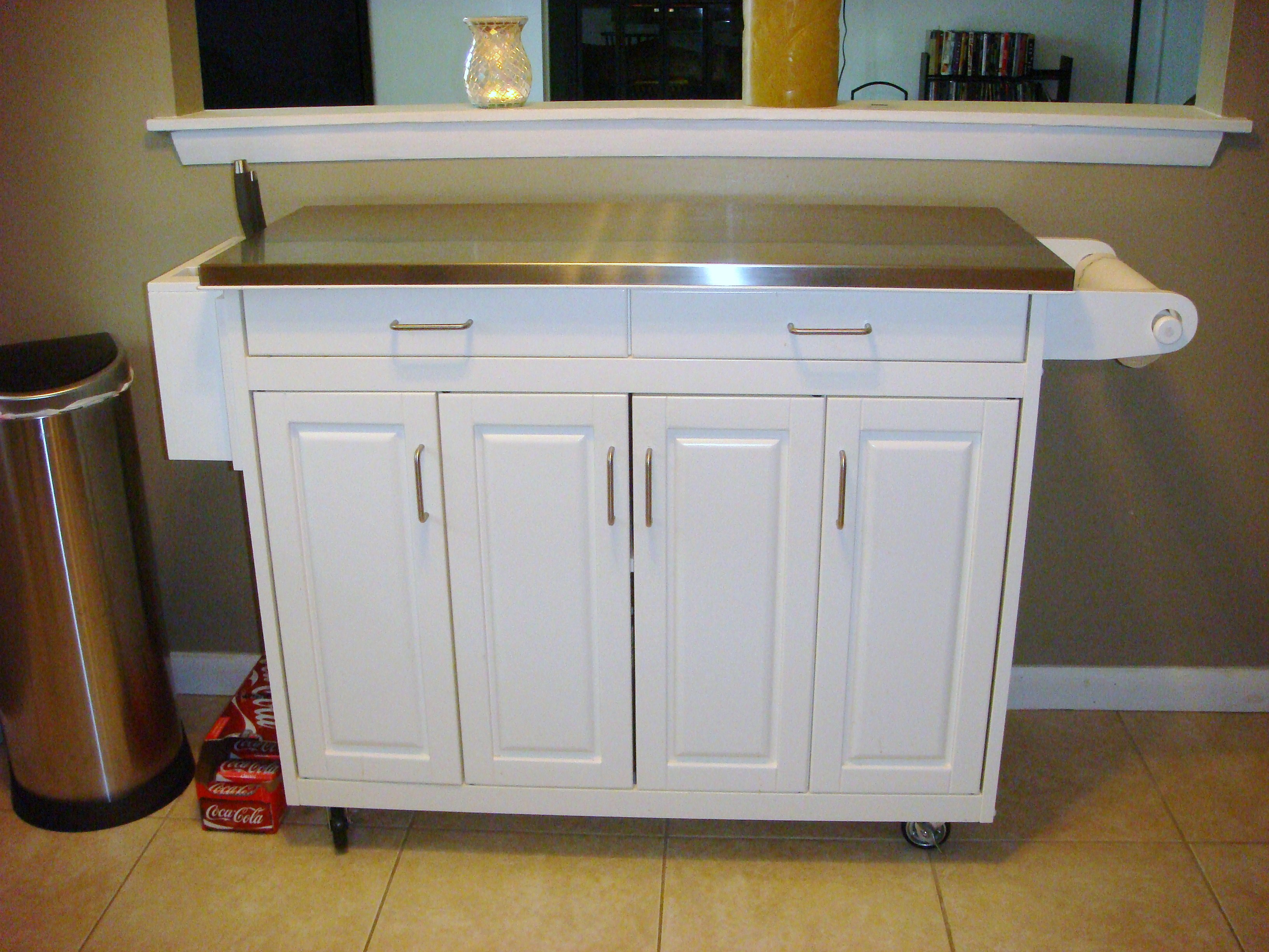 White Kitchen Buffet Table