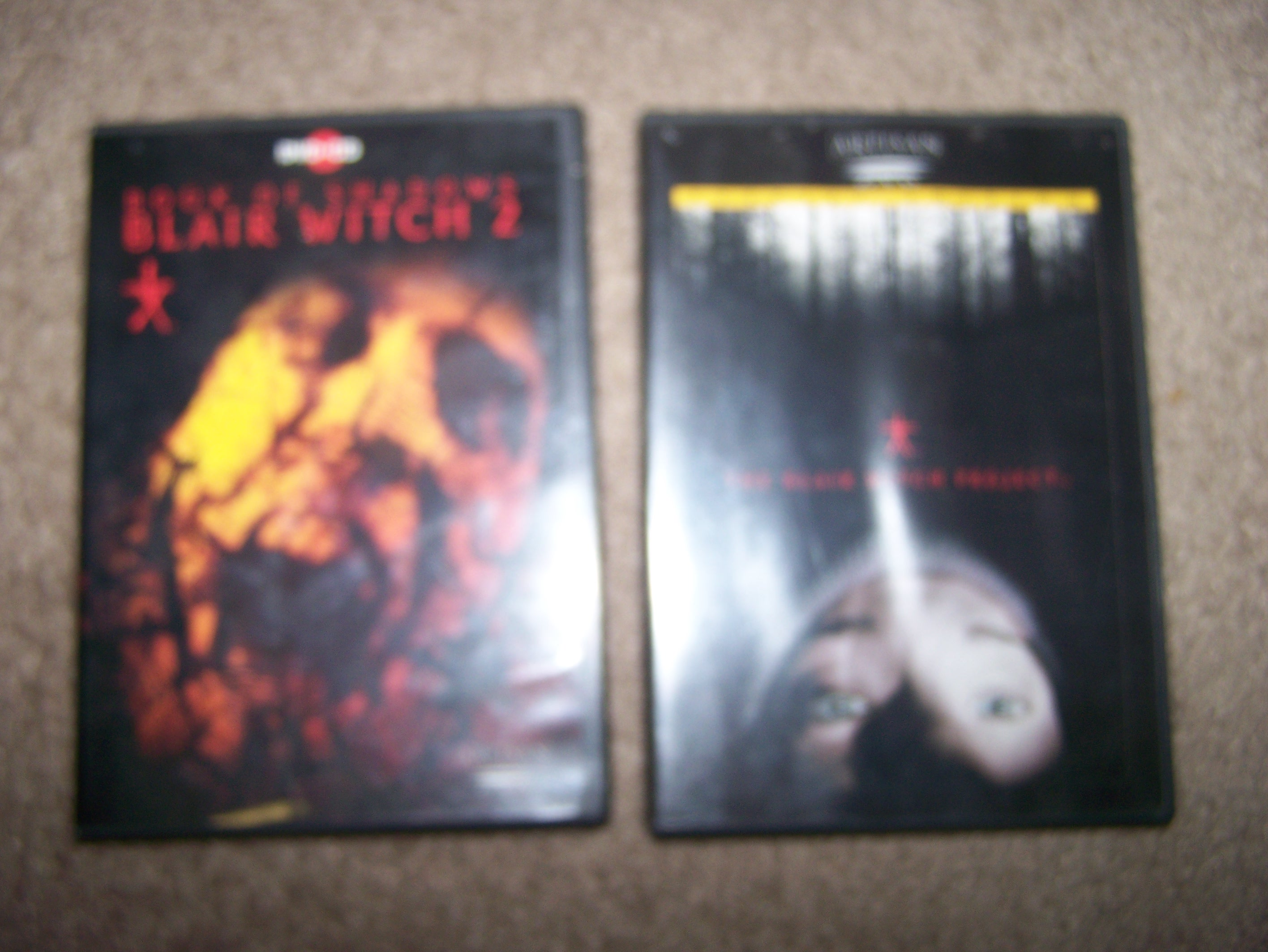 Blair Witch project both DVDs