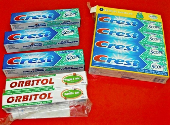 Nine Tubes of Toothpaste, Still in Box (013)