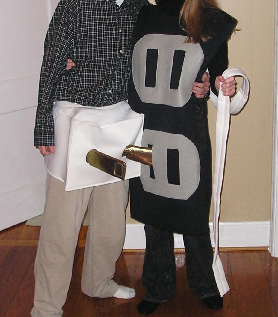 Adult Plug /& Socket Couple Costume