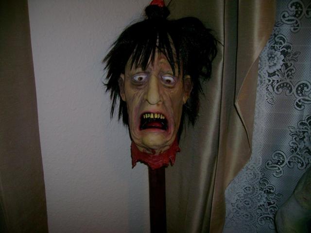 Halloween Prop Head on Stake