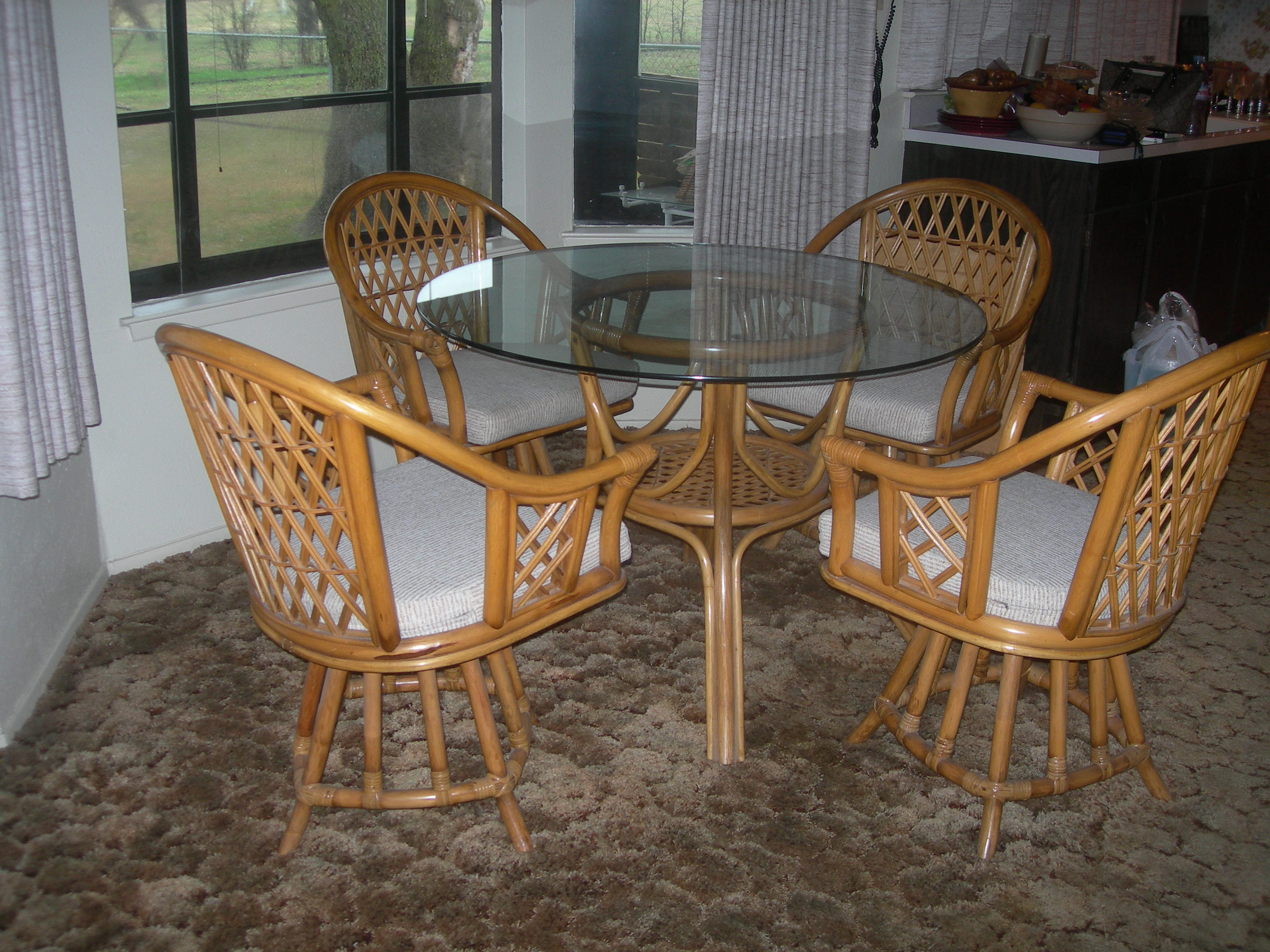 Bambo Table and Chairs