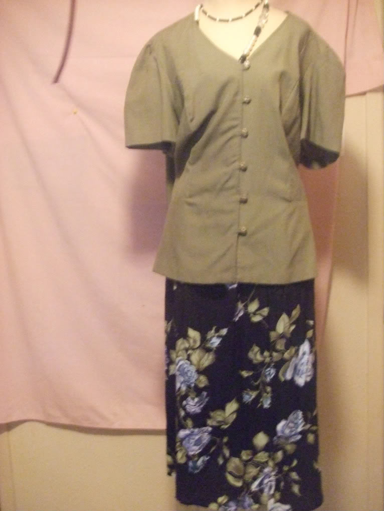 More Promises Blouse with skirt