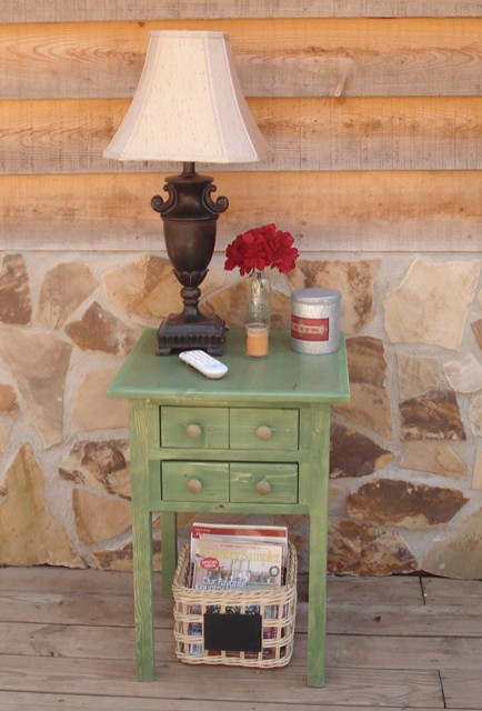 Small Green Table - Nightstand - Side Table