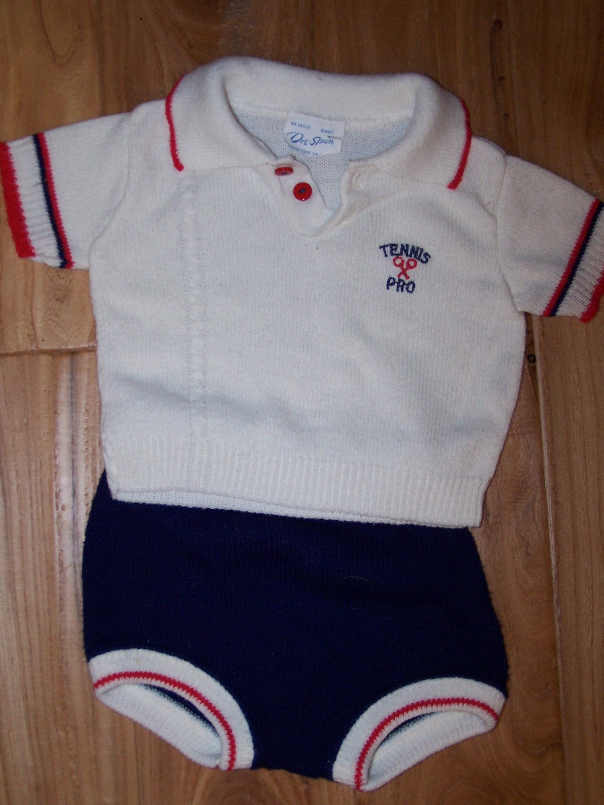 Tennis Pro Sweater Set - Size 9m