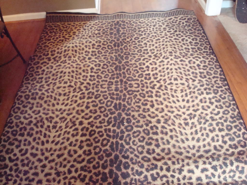 Leopard Print Area Rug Large In Graduating S Garage Sale