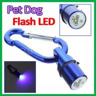 High Visibility LED Light-Up Blue Pet Collar Safety Tag