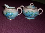 Hand Painted China Sugar & Creamer