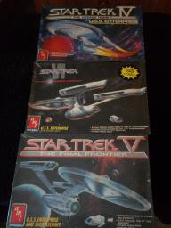 Star Trek IV/V/VI USS Enterprise NCC-1701-A models '86,'89,'91