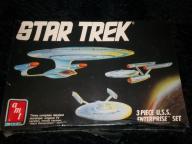Star Trek 3 Piece U.S.S. Enterprise Set. '88