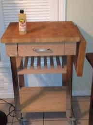 Rolling Butcher Block with drawer