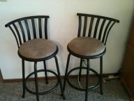 Tall Bar Stools w/ Backrest