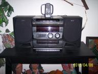 Sony stereo/ 3-cd / cassette player with speakers and remote