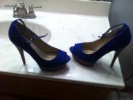 N.Y.L.A Blue Suede heels