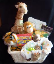 Safari - Large Baby Basket Gift