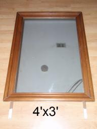 Large mirror or wooden picture frame