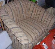 Striped living room chair