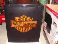 Small Refridgerator with Harley Decal