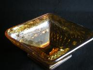 Antique Amber Colored Serving Dish
