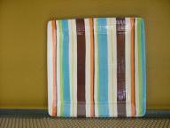 Striped Square Platter