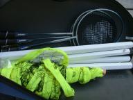 Volley Ball/badminton set in case