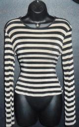 Black&Gold horizontal striped blouse