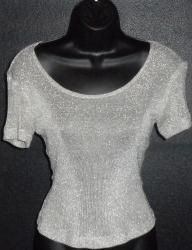 Silver Retro blouse