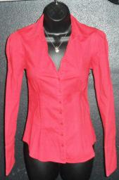 Red long sleeve shirt with cuffs